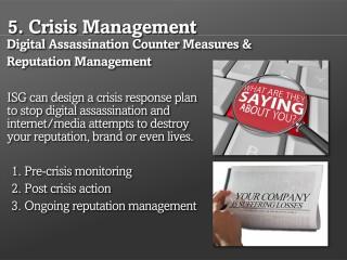 Digital Assassination Counter Measures